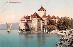 Switzerland Old Vintage Antique Post Card Chateau de Chillon Unused