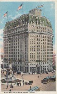DETROIT, Michigan, 1910s; Hotel Pontchartrain, Trolleys