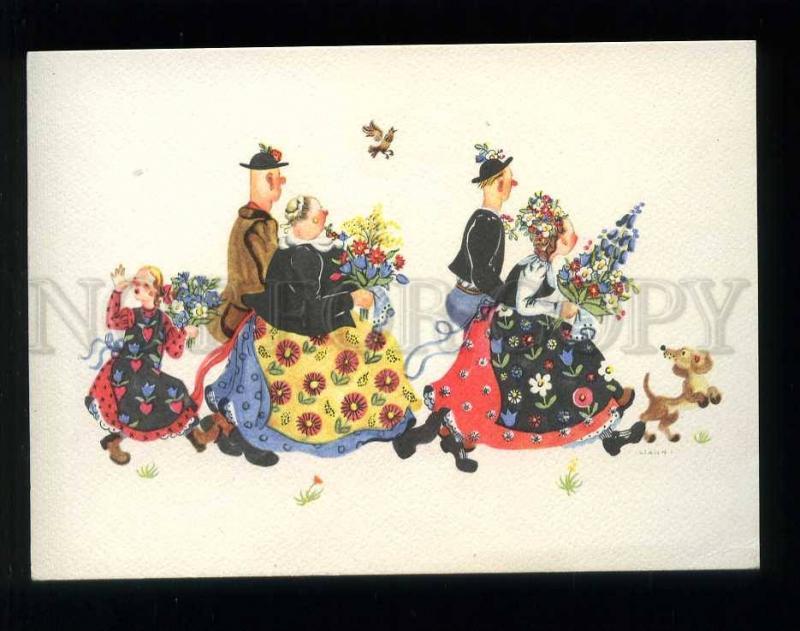 210076 GERMANY HAHN native peoples & dachshund dog postcard