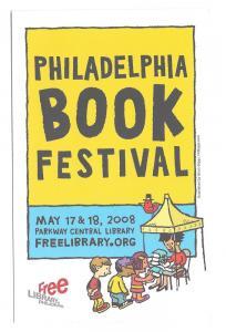 Modern Advertising Postcard Philadelphia Book Festival 2008