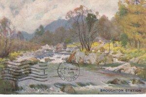 BROUGHTON STATION , Scotland , 1909 ; River Duddon ; TUCK Series 7