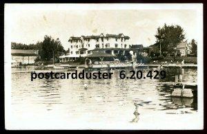 429 - STE. AGATHE Quebec 1945 Laurentide Inn Swimming. Real Photo Postcard