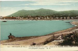 CPA HENDAYE (B.-Pyr.) La Limite frontiere de la Mer - Entrée (171936)