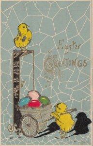 EASTER , 00-10s ; Chicks & Egg cart
