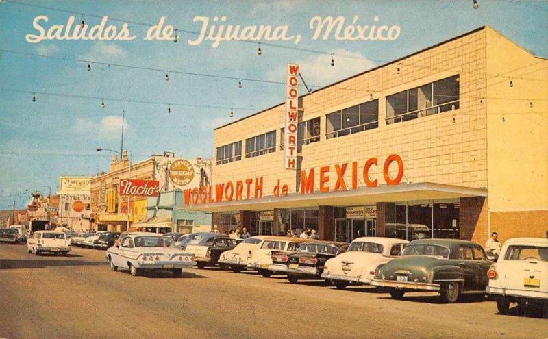 Tijuana B.C. Mexico Saludos de Avenida Revolucion vintage pc ZD549961