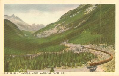 Canada, The Spiral Tunnels, Yoho National Park, B.C. earl...