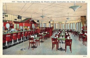 Grand Coulee Dam Washington Green Hut Cafe Vintage Postcard AA8244