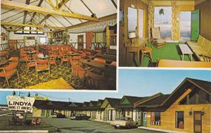 3-Views, Lindya Motel, Gaspe ouest, Quebec, Canada, 40-60s