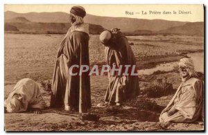 Old Postcard The Prayer in the Desert