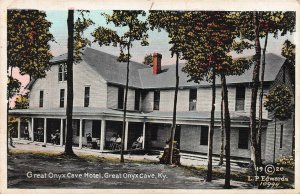 Great Onyx Cave Hotel, Great Onyx Cave, Kentucky, Early Postcard, Unused
