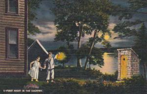 Outhouse With Young Couple First Night In The Country