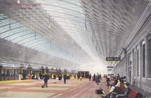 Passenger Concourse at Union Train Station - Washington, DC - pm 1916 - DB