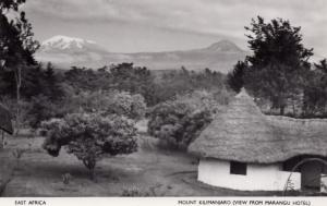 Mount Kilimanjaro Marangu Hotel View Real Photo Africa Uganda Postcard