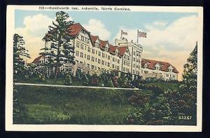 Vintage Asheville, North Carolina/NC Postcard, Kenilworth