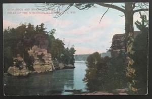High Rock and Romance Cliff Dells of the Wisconsin Kilbourne City Wis 1909 A.C.
