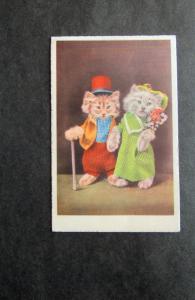 Dressed Up Cats / Kittens Vtg Postcard Anthropomorphic Unused Vintage