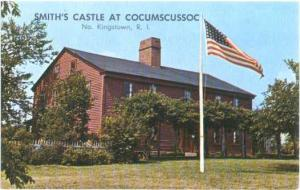 Smith's Castle at Cocumscussoc, No. Kingstown Rhode Island RI, Chrome