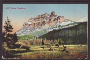 Cascade Mountains,Alberta,Canada Postcard