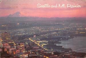 Seattle, Washington - Mt Rainier