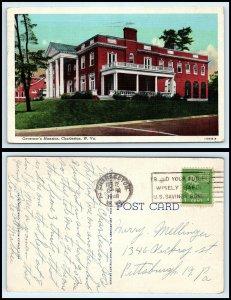 WEST VIRGINIA Postcard - Charleston, Governor's Mansion L36