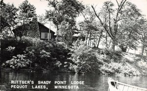 LPS82 Pequot Lakes Minnesota Ruttger's Shady Point Lodge Postcard RPPC