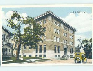 Unused W-Border BUILDING SCENE Little Falls - Near Herkimer New York NY H5426