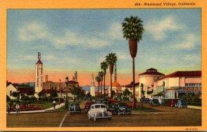 California Westwood Village Street Scene Curteich