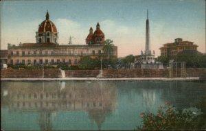 Cartagena Colombia Monumento a la Bandera 1935 Used Postcard