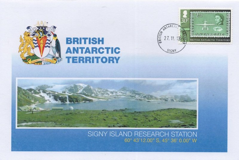 British Antarctic Territory Signy Island Research Station FDC