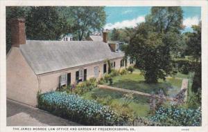 Virginia Fredericksburg The James Monroe Law Office and Garden Curteich