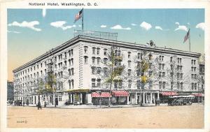 Washington DC 1920s Postcard National hotel on Pennsylvania Avenue