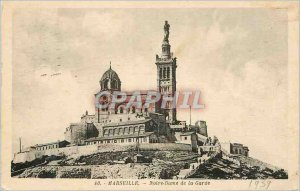 Postcard Old Marseille our lady of the guard