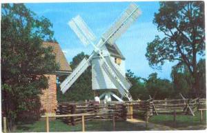 Robertson's Windmill, Williamsburg, Virginia, VA, 1971 Chrome