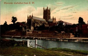 England Worcester Cathedral From Southwest 1912