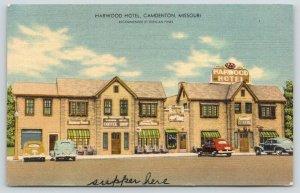 Camdenton Missouri~Harwood Hotel~Coffee Shop~Ate Supper Here~1947 MWM Linen PC
