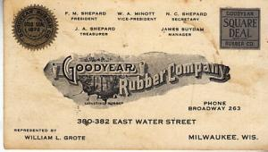 Goodyear Rubber Co. Oversized Business Card