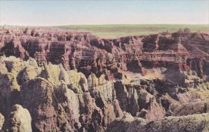 Badman's Hideout The Badlands Nat Monument South Dakota Hand Colored Albertype