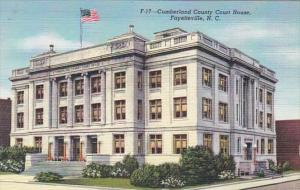 North Carolina Fayetteville Cumberland County Court House Curteich