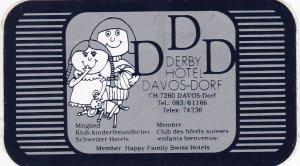 Switzerland Davos Derby Hotel Vintage Luggage Label sk4187