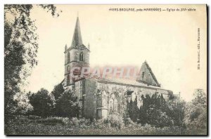 Old Postcard Hiers Brouage Marennes near Church of the fourteenth century e