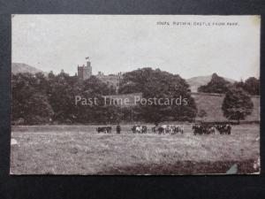 North Wales: Ruthin Castle from Park - Old Postcard