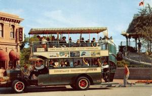 Anaheim California Disneyland Omnibus Vintage Postcard K60711