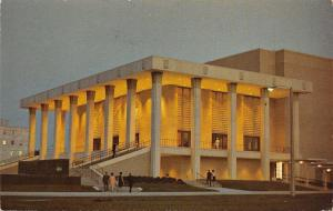 Jackson Mississippi~City Auditorium~Night Lights~1960s Postcard