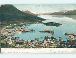 Pre-1907 PANORAMIC VIEW Fort Wrangell - Near Juneau Alaska AK A3793