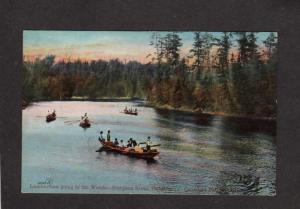 ON Lindsay Lumbering Forestry Sturgeon Point Lake Ontario Carte Postale Postcard
