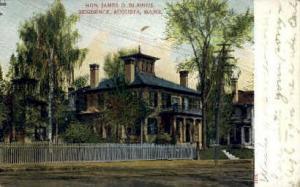 Hon. James G. Blain's Residence Augusta ME Unused