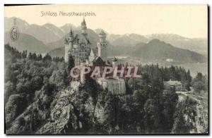 Old Postcard Schloss Neuschwanstein