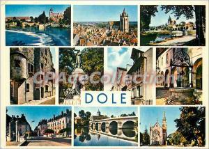 Modern Postcard Dole (Jura) Dam on the Doubs Basilica edges Canal