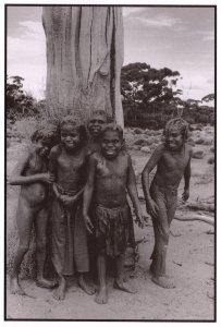 Mudlark Children Aborigine Tribe Australian Postcard