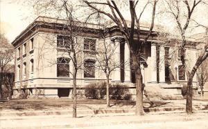 D89/ Mason City Iowa Ia Real Photo RPPC Postcard 1937 Public Library Building